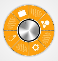 Modern circle options infographic vector