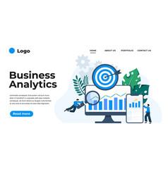 modern flat design business analytics can vector image