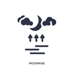 Moonrise icon on white background simple element vector