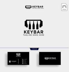 Music bar club cafe logo template vector