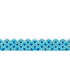 orient sea wave seamless wallpaper vector image