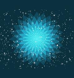 ornate geometric lotus flower esoteric symbol on vector image