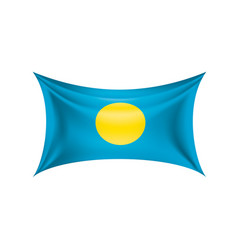palau flag on a white vector image