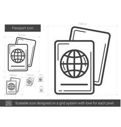 Passport line icon vector
