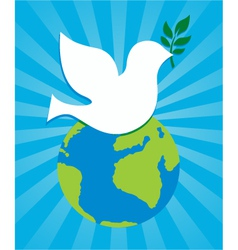 peace dove symbol vector image