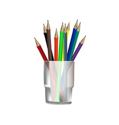 Pencils in glass vector image