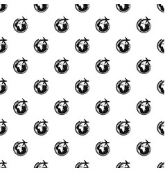 Plane on earth pattern seamless vector
