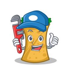 Plumber kebab wrap character cartoon vector