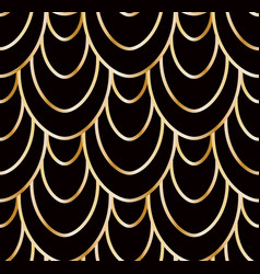 seamless golden wire scales pattern vector image