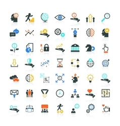 Set of SEO and Development icons vector image