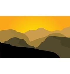 Silhouette of desert landscape vector