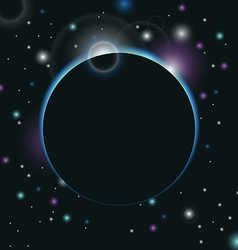 space background with light vector image
