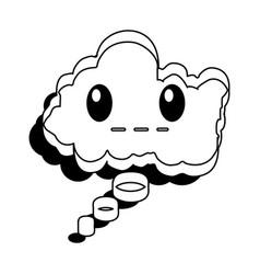 speech bubble silent comic character vector image