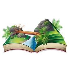 Stream book vector image