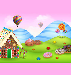 sweet candy land vector image