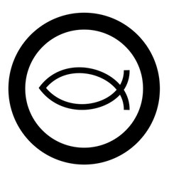 symbol fish icon black color simple image vector image