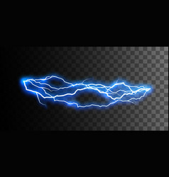 Thunderbolt or lightning visual effect for design vector