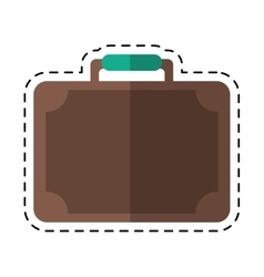 Travel suitcase modern style equipment cutting vector