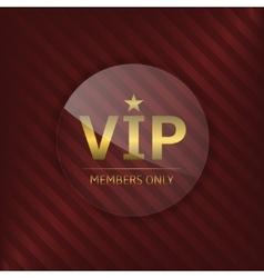 VIP glass label vector image
