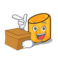 With box rigatoni character cartoon style vector