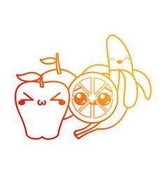 apple banana and orange design vector image