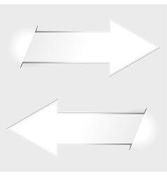 arrow paper tags vector image vector image