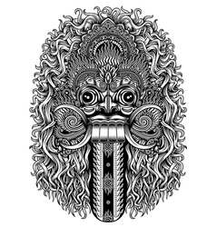 Balinese Demon Mask vector image