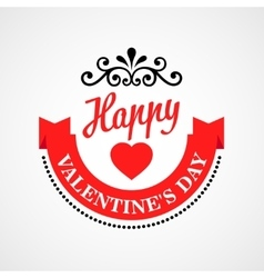 Happy Valentine Day Typographical Background vector image vector image