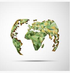 polygon globe vector image vector image