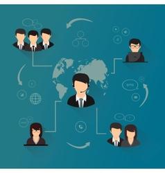 Social network concept vector image