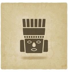 Toltec Warrior head Mexico ancient culture symbol vector image