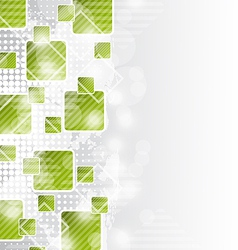 Abstract brochure with squares for design business vector image
