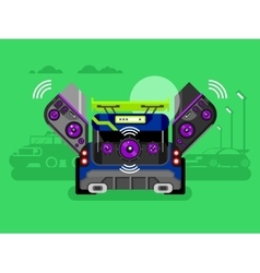 Car audio system vector image vector image