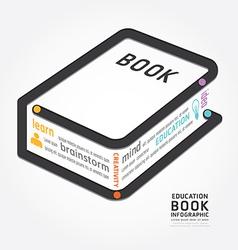 infographics book design diagram line vector image