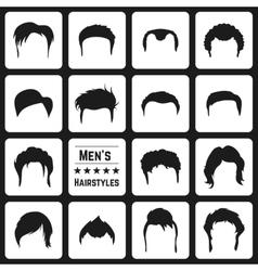 Mens haircuts vector image