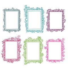Set of colorful floral frames vector image vector image