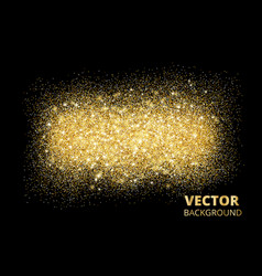 sparkling glitter texture on black background vector image
