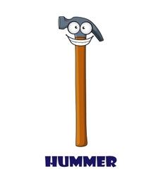 Funny cartoon claw hammer vector image