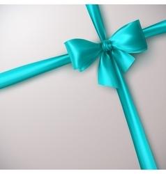 Azure Bow And Ribbon vector image vector image
