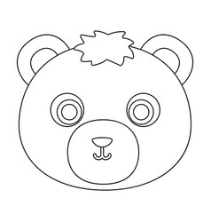 bear muzzle icon in outline style isolated on vector image