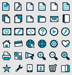 Blue Publishing Icons vector image vector image