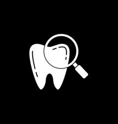 checking teeth solid icon vector image vector image