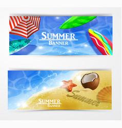 colorful umbrella swimming pool vector image vector image