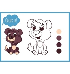 Cute little puppy Cartoon character vector image
