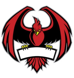 Red bird mascot vector