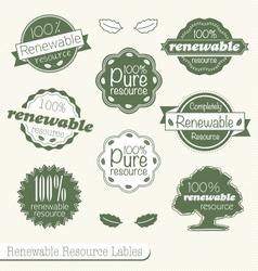 Renewable Resource Labels vector image vector image