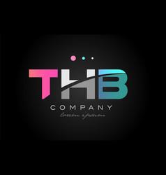 thb t h b three letter logo icon design vector image