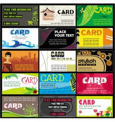 15 colorful business cards set vector