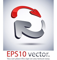 3D modern exchange logo icon vector