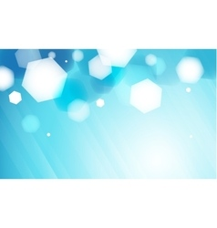 Abstract blue hexagon bokeh background vector